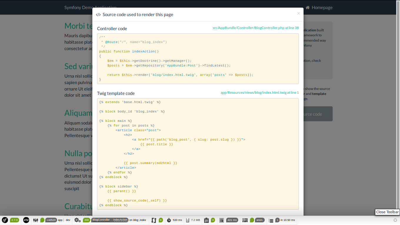 symfony-demo-index-source-code