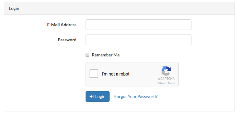 recaptcha-in-login-form