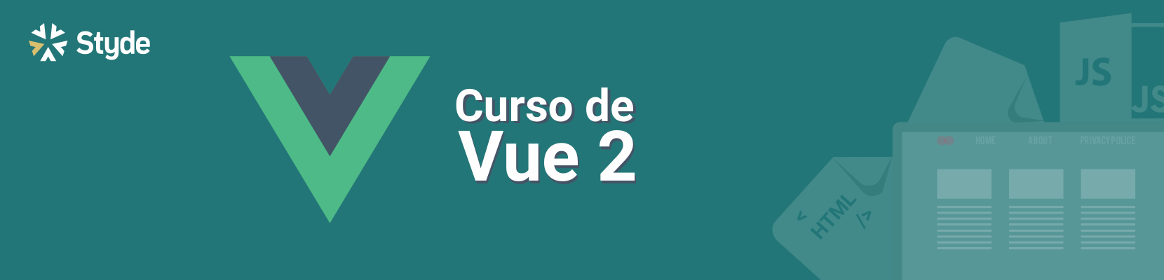 Banner del curso de Vue.js 2