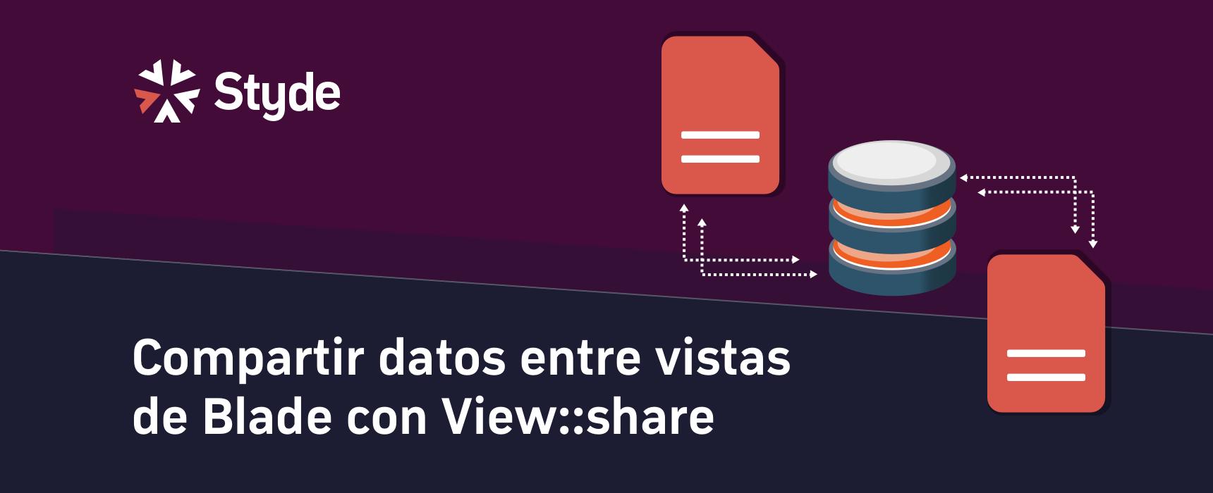 Compartir datos entre vistas de Laravel Blade con View