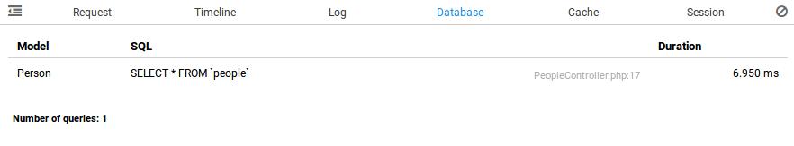 clockwork database tab