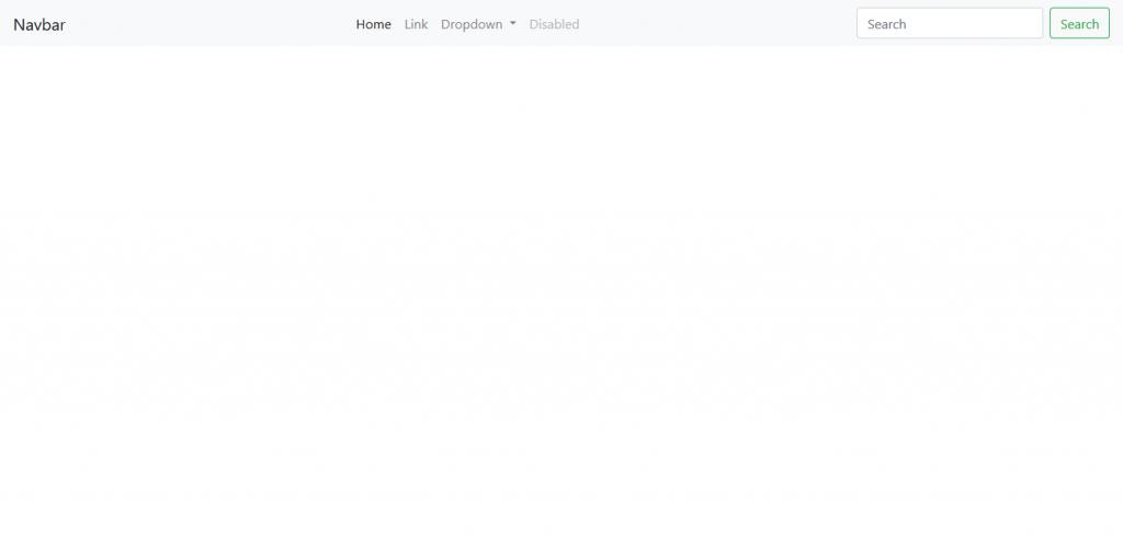Navbar por defecto en Bootstrap