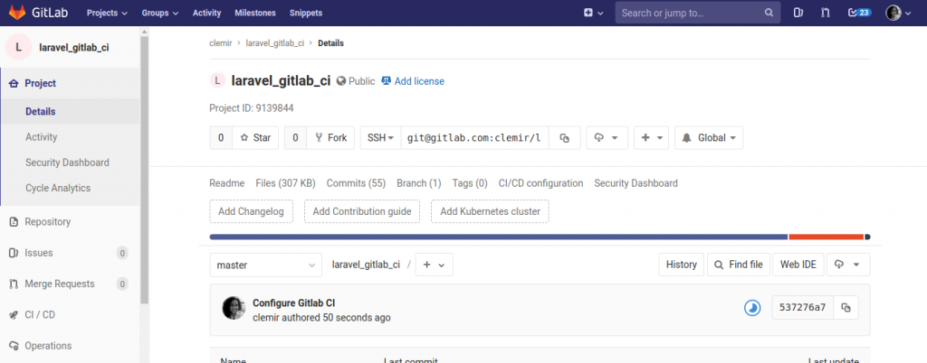 git push to Gitlab