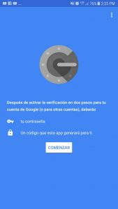 Google Authenticator desde el movil
