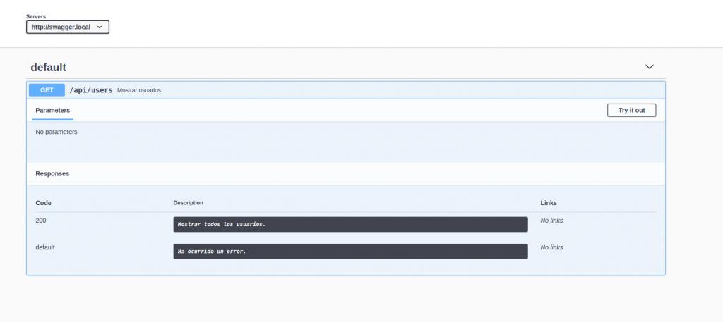 documentación del API