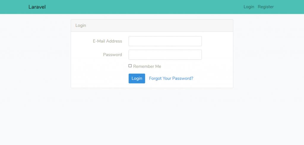 Resultado final de personalizar Bootstrap en Laravel
