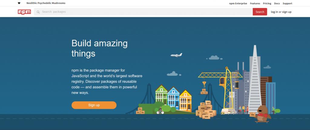 sitio web de npm