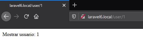ruta en el navegador