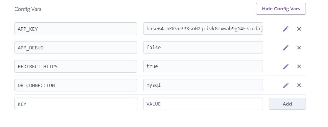 Configurando variables de entorno en Heroku